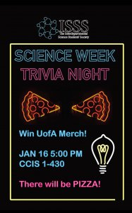 science week 2020 trivia night poster